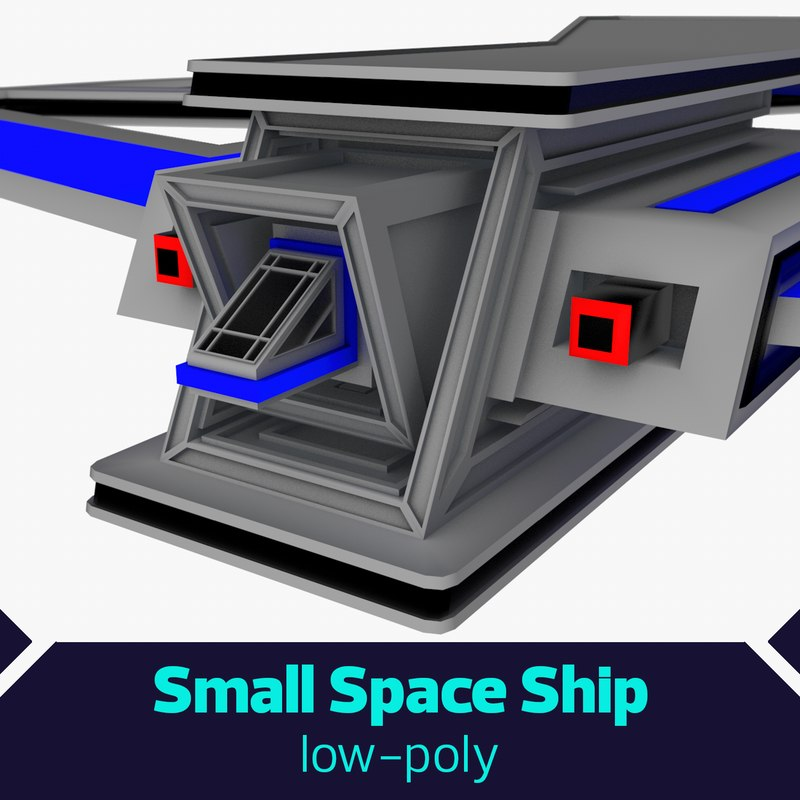 3D model small space ship
