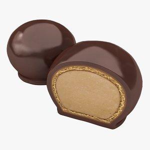 3D realistic bon chocolate model