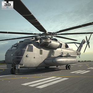 3D sikorsky ch-53e 53