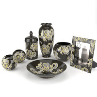 Black ceramic living room set Konstar