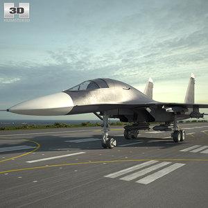 sukhoi su-34 su 3D model