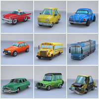 3D cars ready polys