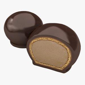 realistic dark bon chocolate model