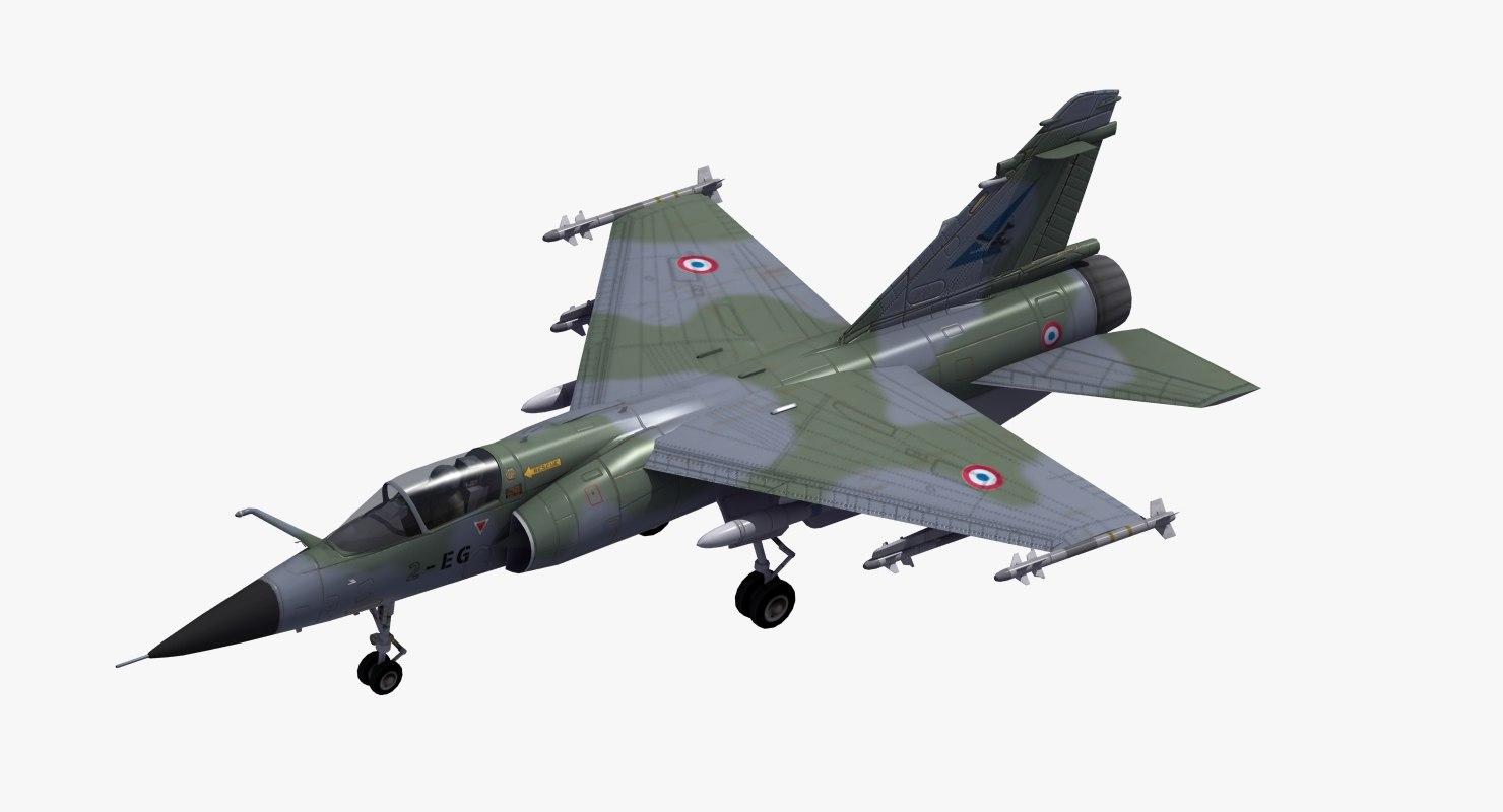 mirage f1c fighter jet 3D model