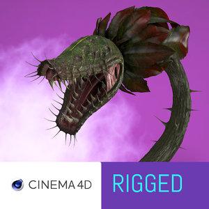monster carnivours plant 3D model