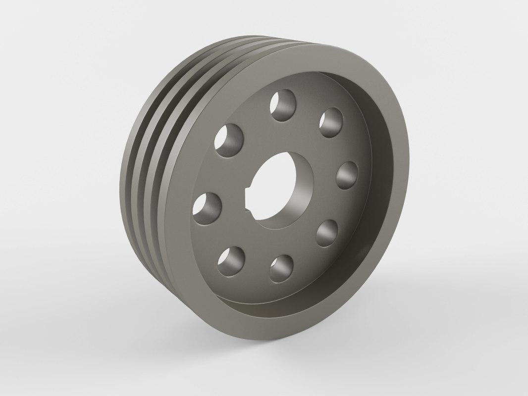 3D pulley pump