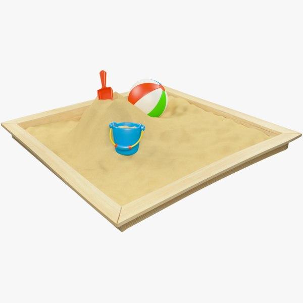 3D model sandbox sand box