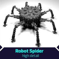 SciFi Robot Spacecraft Spider