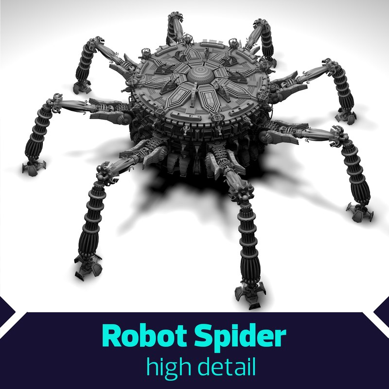 3D spider robot scifi
