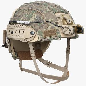 ballistic combat helmet 3D model
