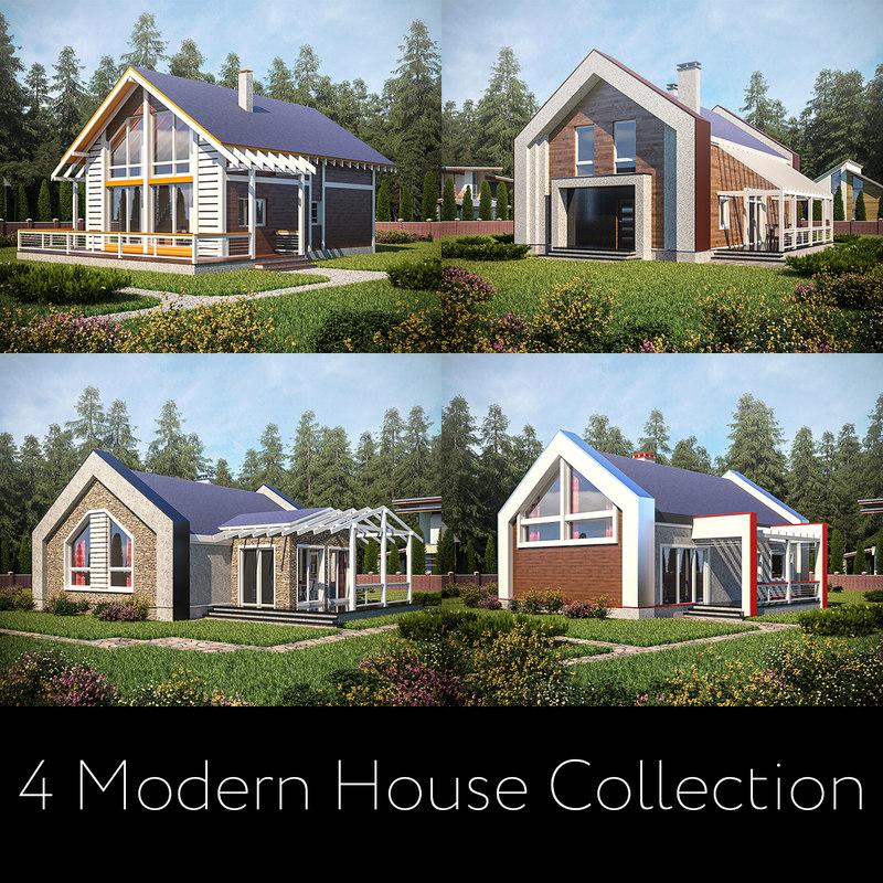 3D modern houses model