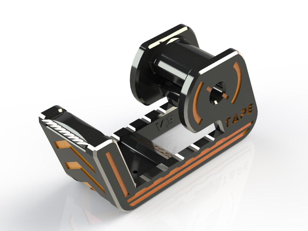 simple tape dispenser 3D model