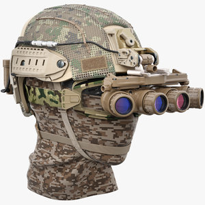 helmet night vision goggle 3D model