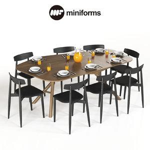 3D table miniforms otto chair