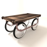3D model hawker cart