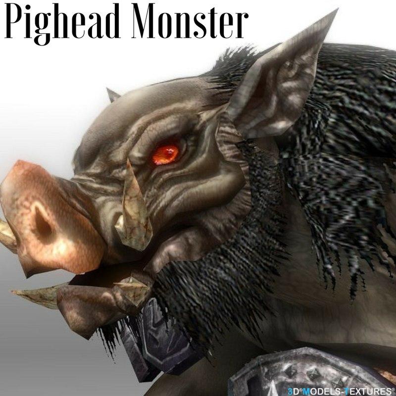 pighead pig monster 3D