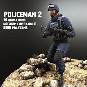 3D policeman model