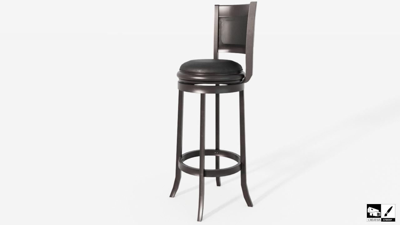 stool augusta 3D model