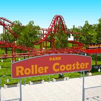3D model roller coaster park