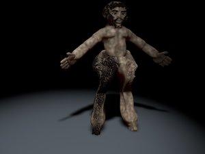 3D model creature pan