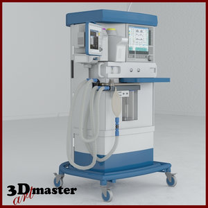 3D anaesthesia medical equipment 2 model