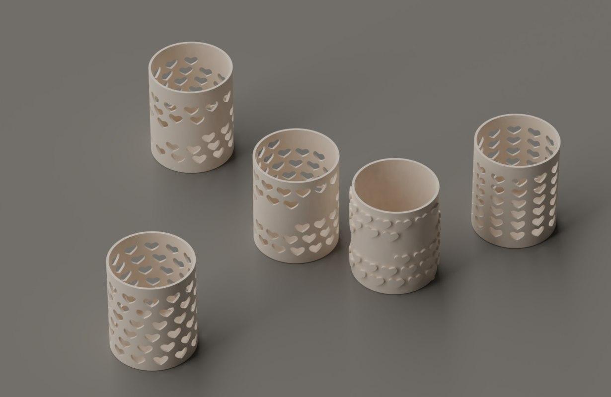 3D model cup pen