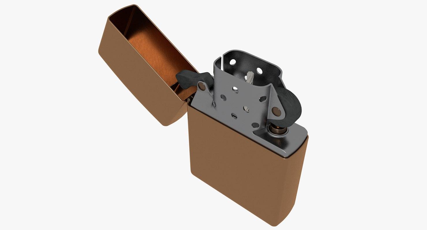 3D zippo lighter model