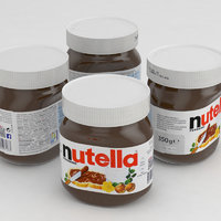 nutella 350g jar 2017 3D