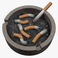 ashtray ash 3D model