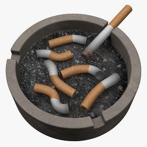 ashtray ash 3D model