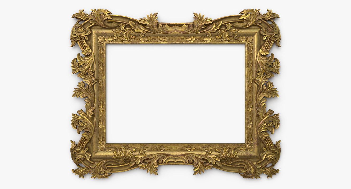 antique baroque frame 3D model