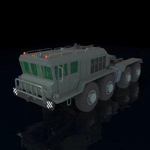 3D model army truck maz kzkt