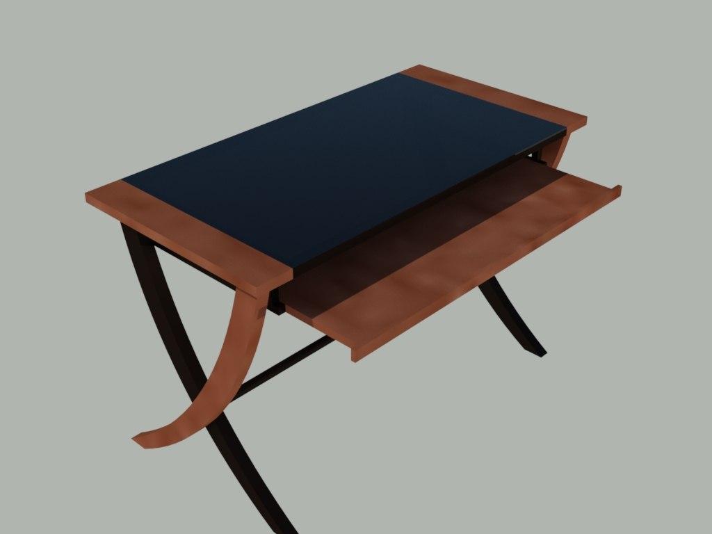 3D computer desk