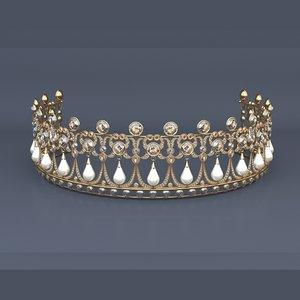 crown tiara 3D model
