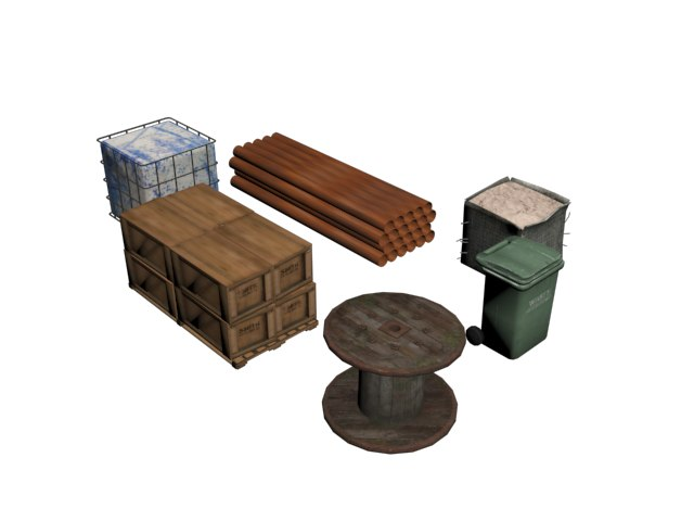 3D different objects