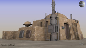 tatooine house 3D model