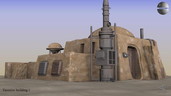 tatooine house 3D model