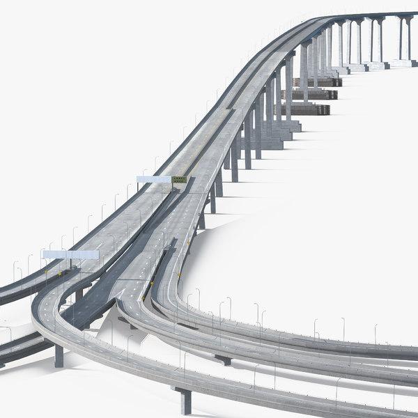 3D coronado bay bridge model