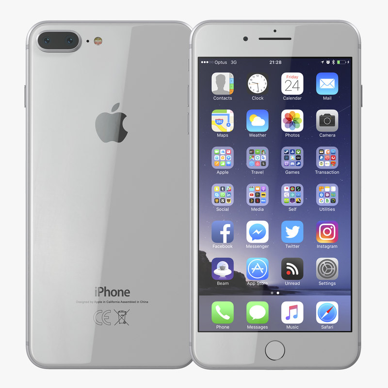 iphone 8 silver 3D model