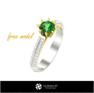 3D model ring jewel fre