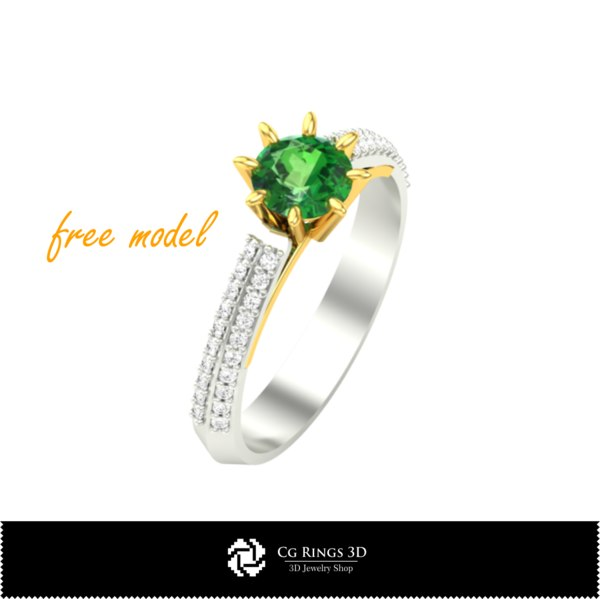 3D model ring jewel fre