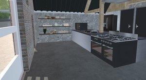 shelf kitchen 3D