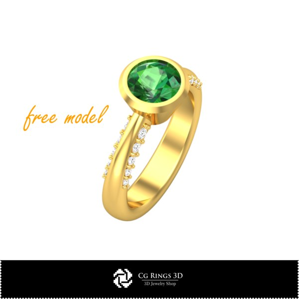 3D ring cad fre