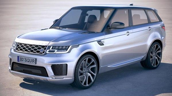 3D range rover sport model