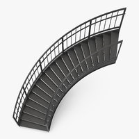 3D exterior staircases curved