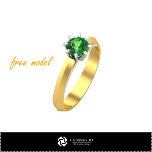 ring cad fre 3D model