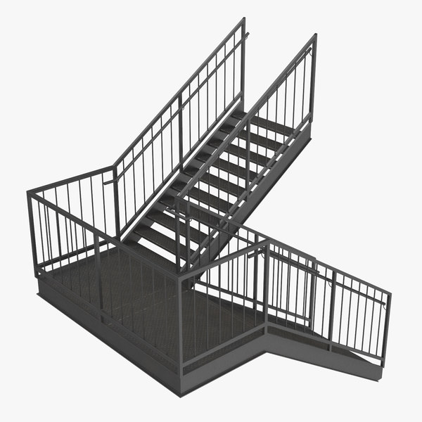exterior staircases landing style 3D