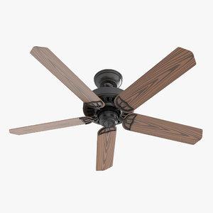 3D ceiling fan - hanter model