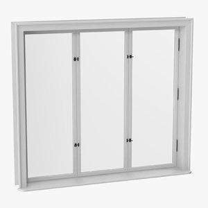 3D model classic windows 01 closed