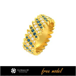 3D ring cad fre model